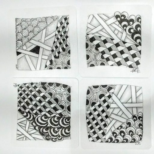 zentangle drawing beginners course – the lucky tangler